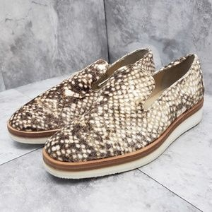 Free People Snake Eyes Loafers Taupe